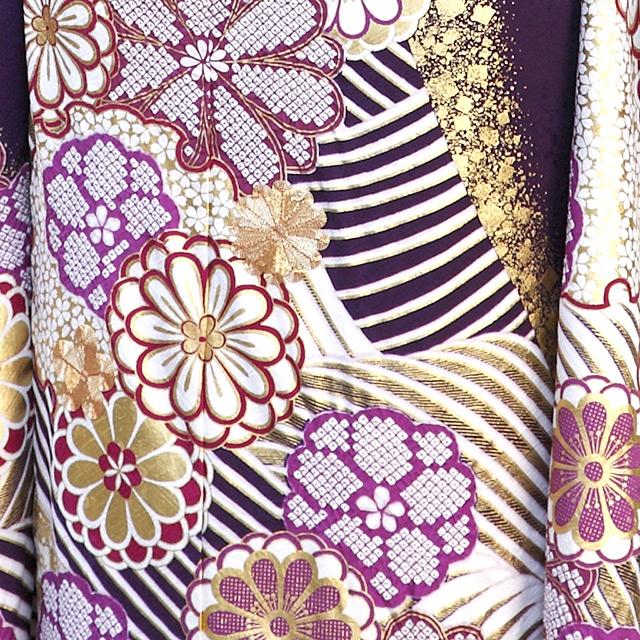 金彩 絞り 金刺繍