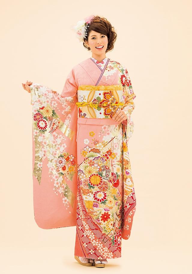 ピンク×金彩 気品あふれる色使い。