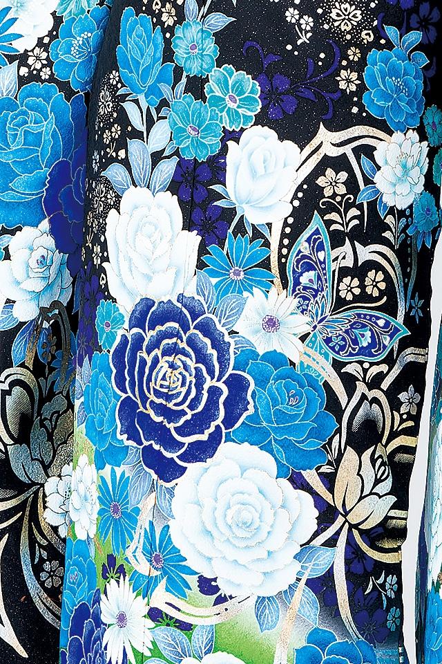 たくさんのバラが描かれた今どきのデザインです