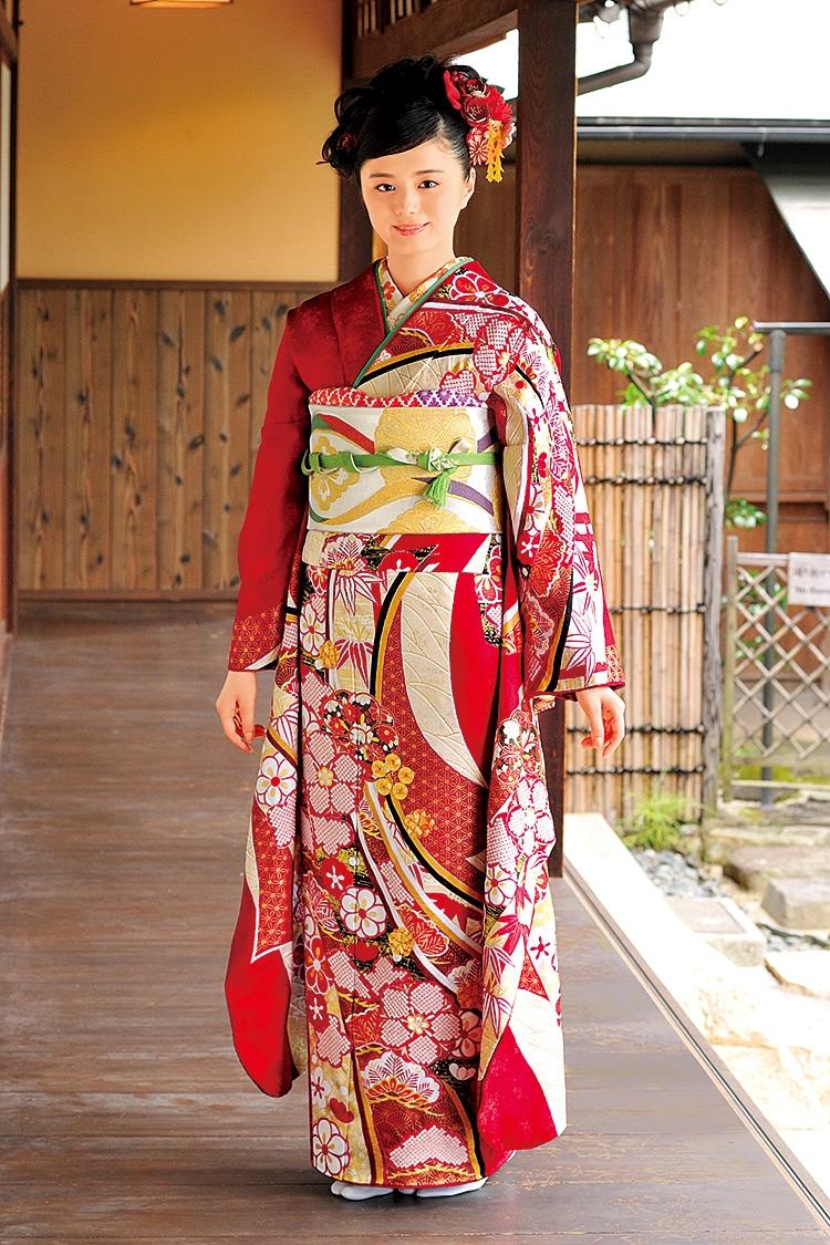 鮮やかな赤と流れるように描かれた桜の花弁が大人の雰囲気を醸し出します。