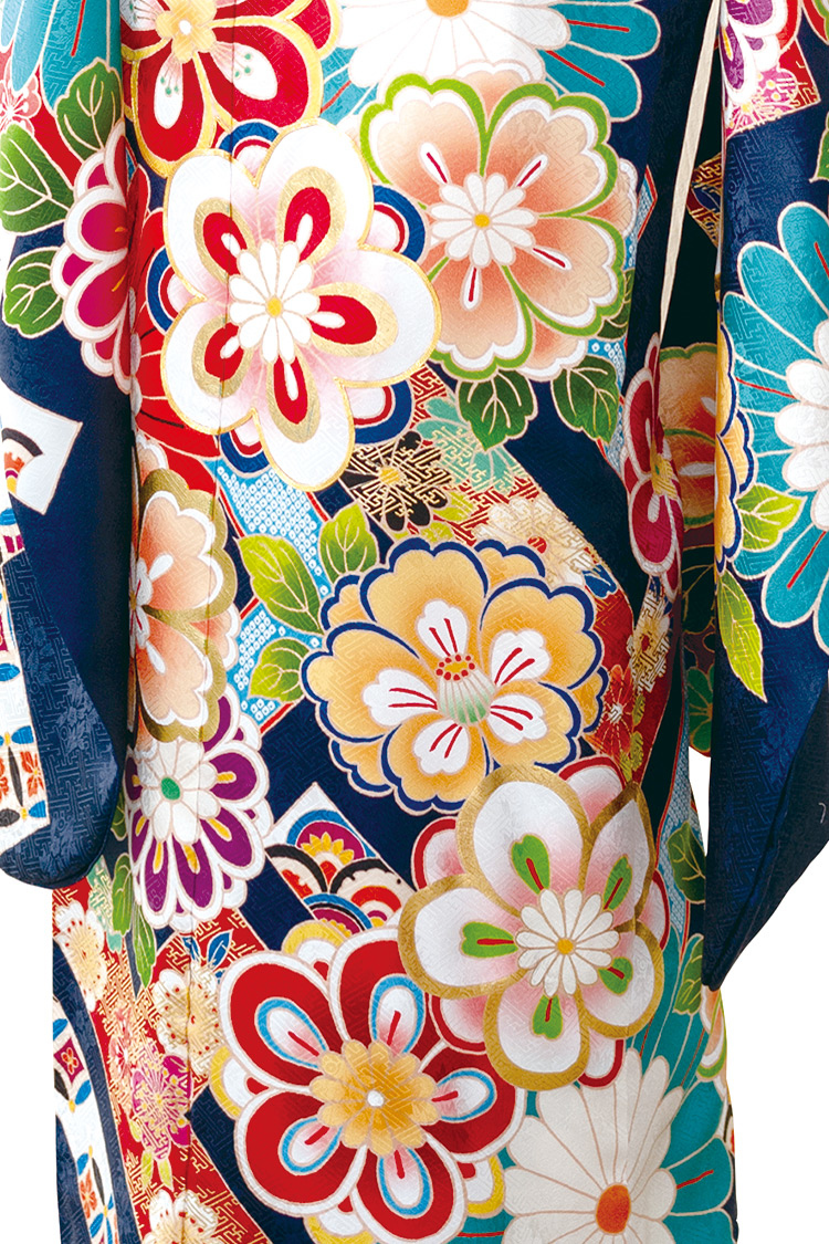 色とりどりの花々が咲き誇る素敵なデザインですね。